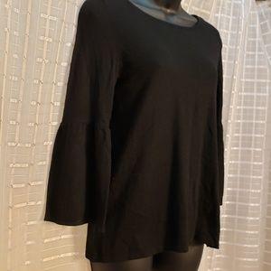 Loft italian wool sweater bell sleeve